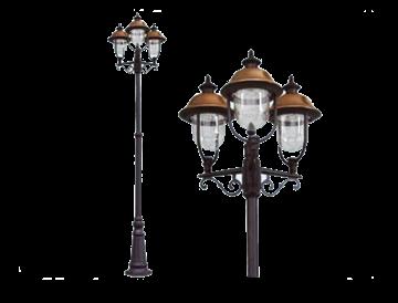 Immagine di Lampione Verona 3 luci su palo