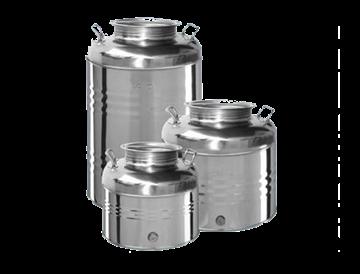 Immagine di Bidoni contenitori in acciaio inox per olio OliVari 50 Lt.