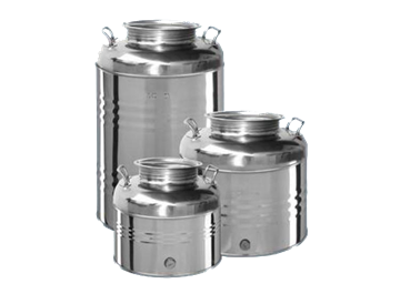 Picture of Bidoni contenitori in acciaio inox per olio OliVari 50 Lt.
