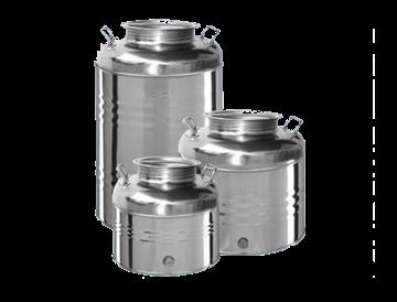 Picture of Bidoni contenitori in acciaio inox per olio OliVari 30 Lt.