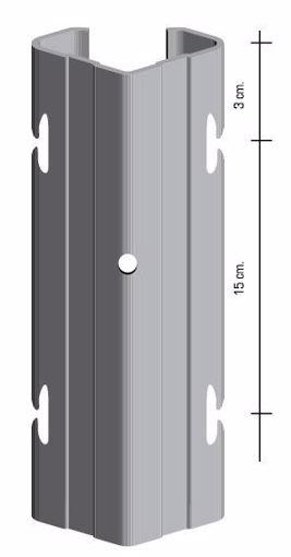 """Picture of Palo h2,30 con asole interne a """"V"""" da 70x40 mm. Cor-Ten - 10 PEZZI"""
