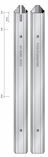 Immagine di Palo triangolare PICCOLO per vigneti da 35mm H2,15mt. -150 pezzi