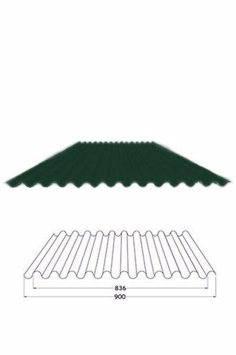 Immagine di Lamiera ondulata preverniciata verde sp. 0,35 mm