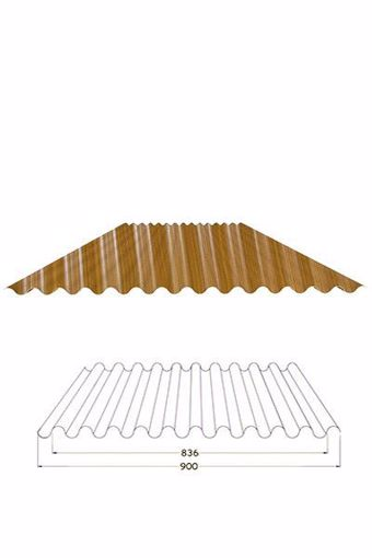 Immagine di Lamiera ondulata effetto finto legno 2 mt