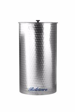 """Immagine di Botte per alimenti acciaio inox 18/10 LT. 300 """"Belvivere"""""""