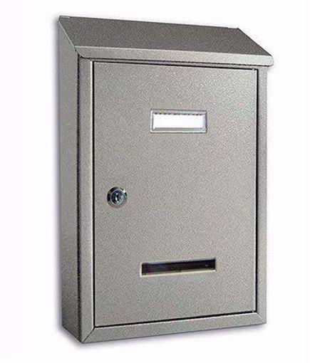 Picture of Cassetta postale formato rivista Alubox Prima Maxi con tetto verniciata Argento