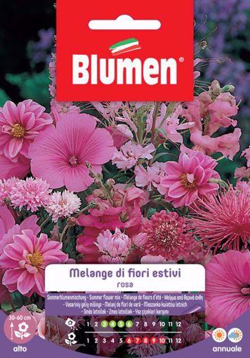 Picture of Confezione di semi fiori rosa in melange misti Blumen fiori giardino aiuola