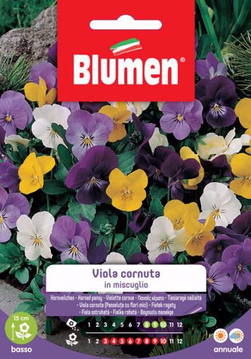 Immagine di Confezione semi Viola Cornuta in mix Blumen fiori aiuole giardino bordure vaso