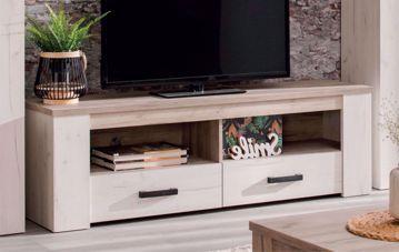 Immagine di MOBILE PORTA TV ROVERE SBIANCATO