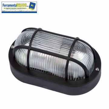 Immagine di Plafoniera lampada da esterno ovale