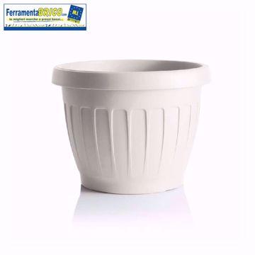 Picture of Vaso in plastica circolare per fiori/piante diametro: cm 25 colore: bianco serie: terra