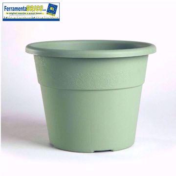 Immagine di Vaso in plastica circolare per piante diametro: cm 30 colore: salvia serie: hedera