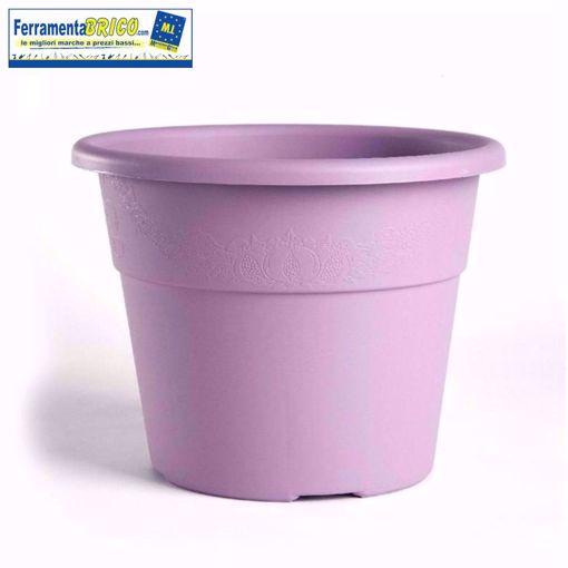 Immagine di Vaso in plastica circolare per piante diametro: cm 25 colore: lavanda serie: hedera