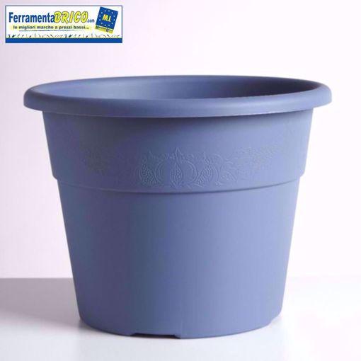 Immagine di Vaso in plastica circolare per piante diametro: cm 25 colore: cielo serie: hedera