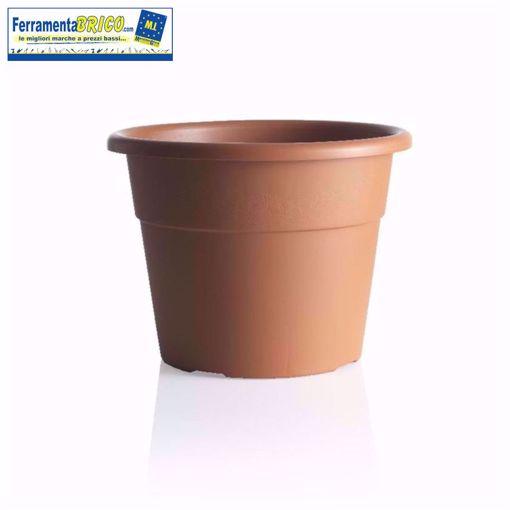 Picture of Vaso in plastica circolare per piante diametro: cm 25 colore: terracotta serie: hedera
