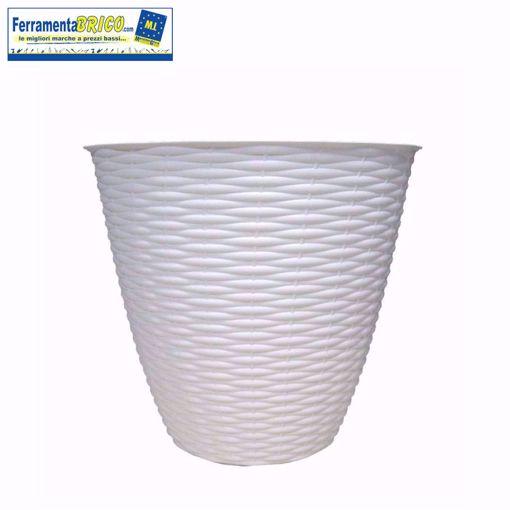 Picture of Portavaso trasparente in plastica diametro 14 serie: Paglia